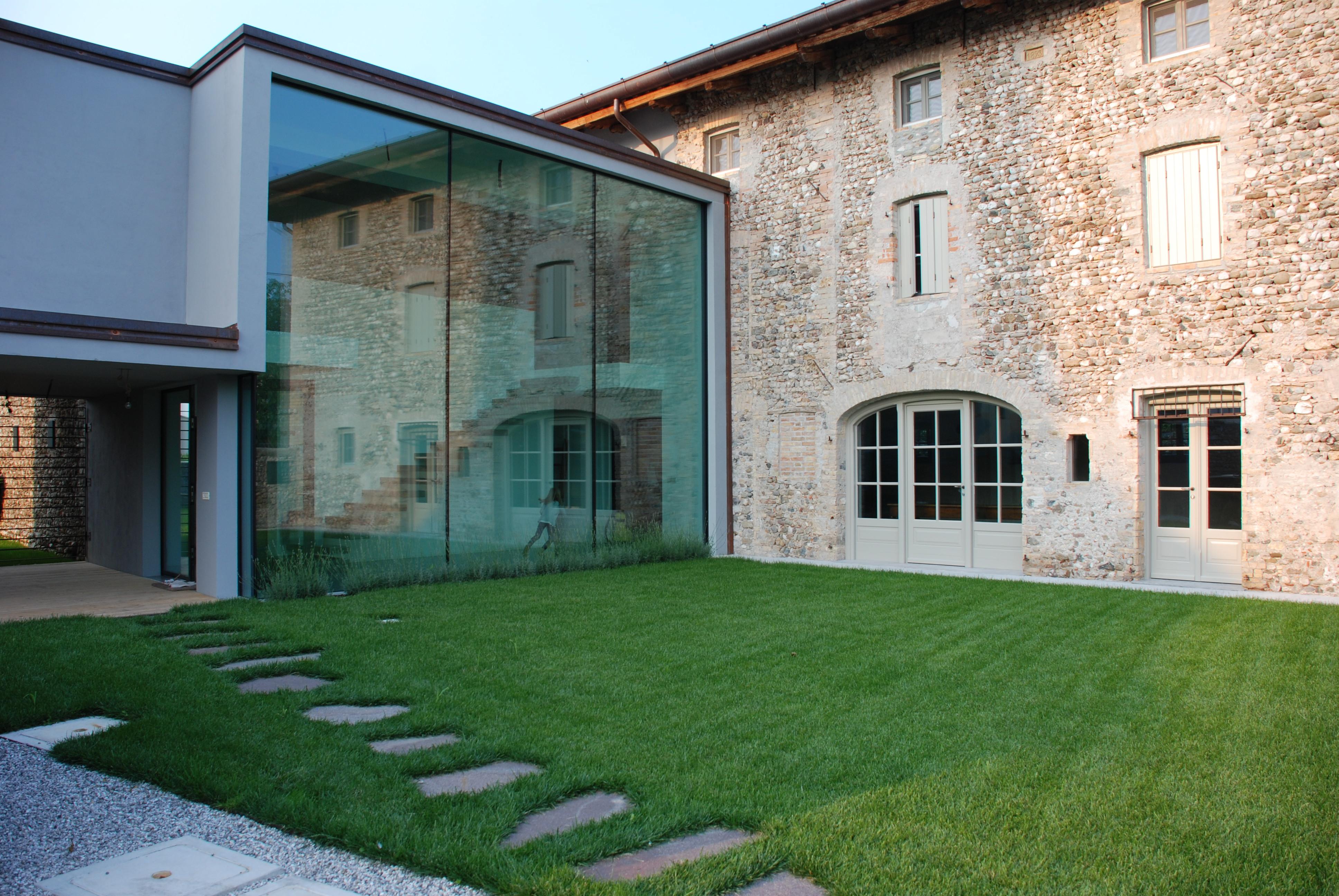 Vetrate esterne per ville coperture veranda terrazzo - Parete vetrata esterna ...