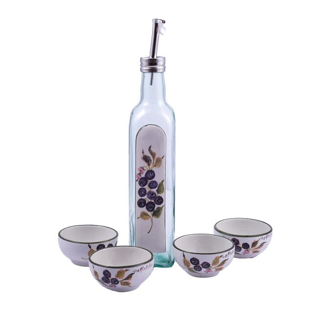 Set decorato grappa